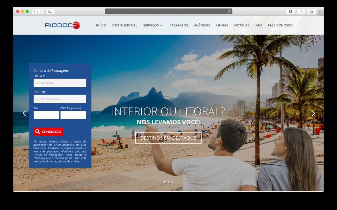 Conheça o novo site da Viação Riodoce!